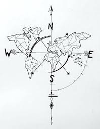 compass design compass design geometric world map compass arrow nautical travel