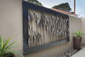 large metal wall decor outdoor