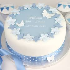 Personalised Boys Christening Cake Decorating Kit By Clever Little