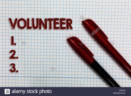 Individual Graph Paper Conceptual Hand Writing Showing Volunteer Business Photo