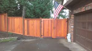 wood fence double gate. Bob\u0027s New Cedar Deck With Privacy Screen, Fence And Double Gate. - Black Diamond Fencing Wood Gate
