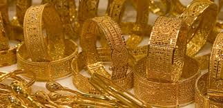 gold jewellery at a gold souq