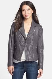 image of michael michael kors leather moto jacket