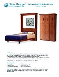 murphy full vertical wall bed woodworking plans hardware and material lists included 1fvwb amazon