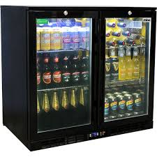 commercial under bench black glass double door bar fridge energy efficient 1 417 00 inc gst