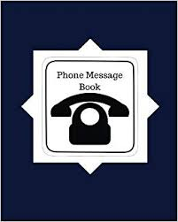 Phone Message Log Book Amazon Com Phone Message Book Navy Blue Cover Design