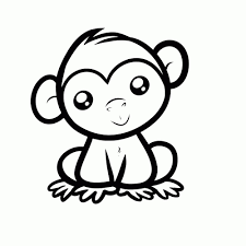 Apen 0006 Kleurplaat Monkey Coloring Pages Cartoon Monkey En