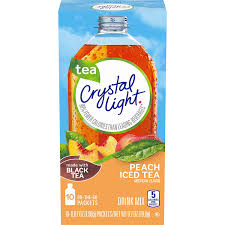 Crystal Light Peach Tea Caffeine Content Crystal Light Drink Mix Peach Tea On The Go Packets 10 Count Pack Of 6 Boxes