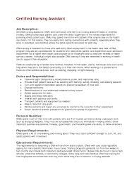 Cna Job Resume Cna Duties Resume Format Certified Nursing Assistant Job 16