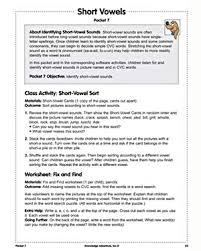 Missing short vowel worksheet 15. Short Vowels Free Phonics Lesson Plans Worksheets Jumpstart