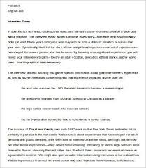 interview essay template samples examples format  example interview essay template