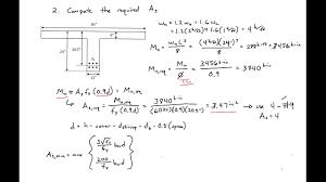 T Girder Bridge Design Example 6 Integrated T Beam Design Example
