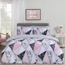 dreamscene marble geometric duvet set