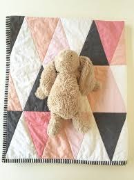 Best 25+ Modern baby quilts ideas on Pinterest | Baby quilt ... & This would be so easy to make now that I have the Sidekick and Hex 'N More  templates from Jaybird Quilts! Blush pink peach coral modern baby quilt  ombre by ... Adamdwight.com