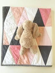 Best 25+ Modern baby quilts ideas on Pinterest | Baby quilt ... & Blush pink peach coral modern baby quilt ombre by WilderAndBean Adamdwight.com