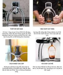 MÁY PHA CÀ PHÊ THỦ CÔNG ROK GC Espresso Maker - Màu bạc