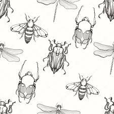 ручной обращается гравировка эскиз скарабей ошибка может пчела и D
