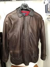 nautica leather jacket size 42
