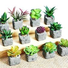 garden ornaments and accessories. garden ornaments and accessories home decoration artificial succulent plants mini potted bonsai fake flower green o