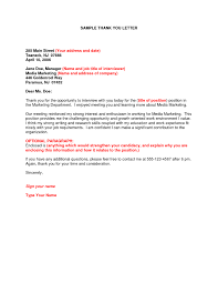 Writing Post Interview Thank You Letters Resume Template