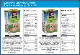 quaker dino eggs instant oatmeal