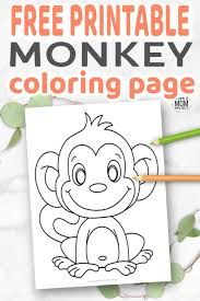 Free printable coloring pages for children that you can print out and color. Cute Baby Monkey Coloring Page For Kids Simple Mom Project
