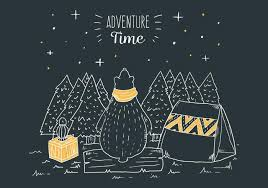 camping in the woods at night. Night Camping Scene In Woods With Bear Tender And Lamp Travel Quote The At F