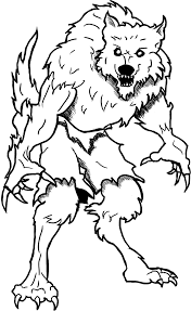 Small Picture Werewolf 4 Characters Printable coloring pages