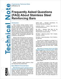 Crsi Answers Faqs About Stainless Steel Reinforcing Bars
