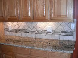 Kitchen Tiles For Backsplash Custom Tile Backsplash With Glass Strips On Accent Tiles For