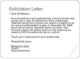 Solicitation Latter Solicitation Letter For Basketball Uniform Google Search