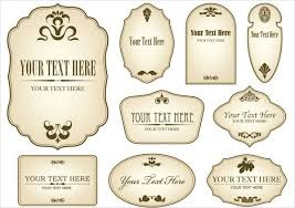 Label Templates Free Impressive Free Vintage Label Templates World Of Label