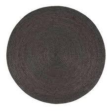 kerala gray 8 ft x 8 ft jute round area rug