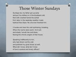 those winter sundays essay