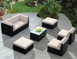 small deck furniture. Patio:Pool Furniture Sets Small Deck Rattan Sofa Outdoor Wicker Patio Table Black