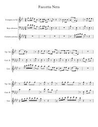 Faccetta Nera Sheet music for Trumpet (In B Flat), Bass, Guitar (Mixed  Trio)
