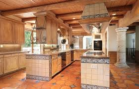rustic spanish style furniture. Rustic Traditional Kitchen With Spanish Tiles Wood Ceiling And Terra Cotta Floors Style Furniture