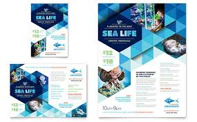 Brochure Template Word Gorgeous Ocean Aquarium Flyer Ad Template Design