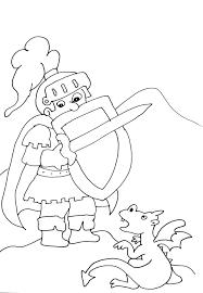 18 Dessins De Coloriage Chevalier Dragon Imprimer