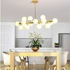 modern 16 modo round glass chandelier pendant lamp ceiling lamp dna led fixture