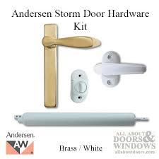 andersen emco storm door hardware kit brass exterior white interior andersen storm door closer