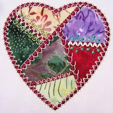 Crazy Patch Tutorial: How to Embroider a Crazy Heart Two Ways ... & Crazy Patch Tutorial: How to Embroider a Crazy Heart Two Ways Adamdwight.com