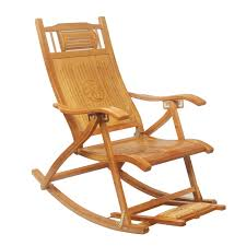 outdoor furniture rocking chairs. Modern Foldadble Bamboo Rocking Chair Recliner With Foot Rest Indoor/Outdoor Lounge Deck Outdoor Furniture Chairs U