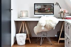 stylish white desk with chair