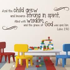 marvelous design ideas religious wall decor home luke 2 40 divine walls hobby lobby for nursery
