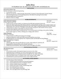 entry level chemical engineer resume review