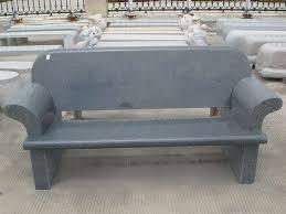 G654 Grey Granite Polished Outdoor Garden Stone Bench Benches With Stone Benches With Backs