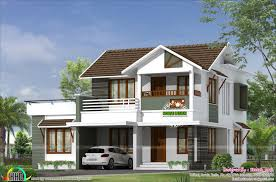 2200 square feet 4 bedroom simple sloping roof home
