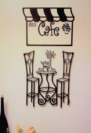 bistro scene 3d metal wall art on cafe wall art design with metal wall art sculptures bistro table cafe paris history