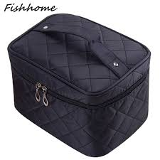 Aliexpress.com : Buy Cosmetic box 2017 new female Quilted ... & Cosmetic box 2017 new female Quilted professional cosmetic bag women's  large capacity storage handbag travel toiletry Adamdwight.com